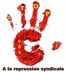 """Résultat de recherche d'images pour """"non à la répression syndicale"""""""